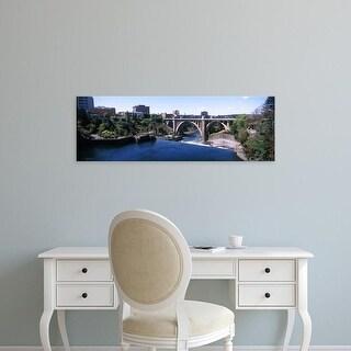 Easy Art Prints Panoramic Images's 'Monroe Street Bridge across Spokane River, Spokane, Washington State' Canvas Art
