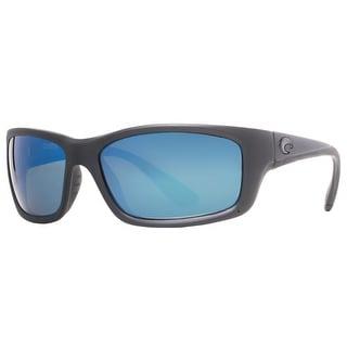 COSTA DEL MAR Sport Jose Unisex JO 01 Matte Black Blue Sunglasses - 60mm-19mm-125mm