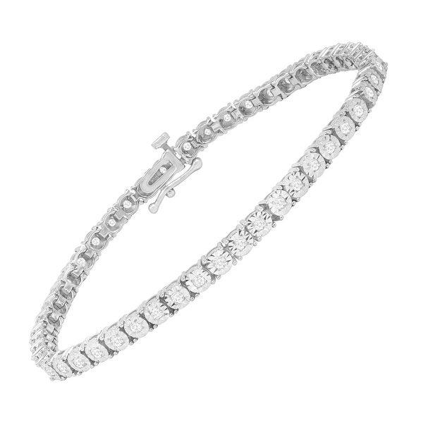 1 ct Diamond Tennis Bracelet in Sterling Silver