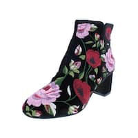 Kate Spade Womens Lucine Booties Embroidered Velvet