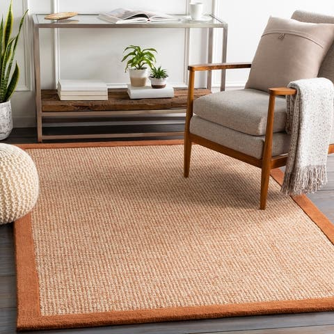 Bismarck Handmade Bordered Wool Area Rug