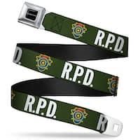 Resident Evil Full Color Black White Rpd Raccoon Police Detective Badge Seatbelt Belt