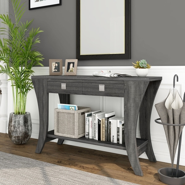 Furniture of America Werc Contemporary Grey Sofa Table. Opens flyout.