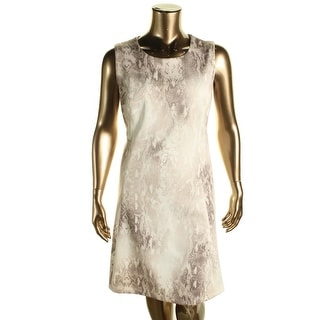 Calvin Klein Womens Plus Matter Jersey Printed Wear to Work Dress - 22W