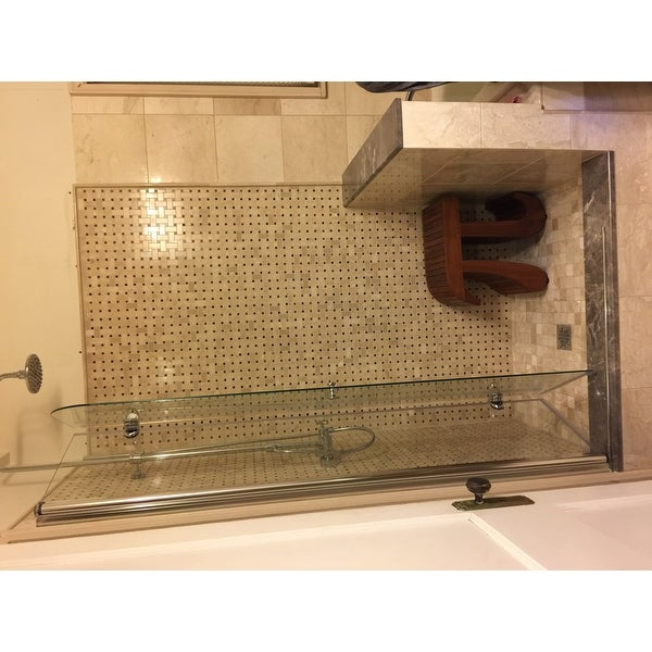 Dreamline Aqua Fold Shower Door 33 5 In W X 72 H Clear Gl Free Shipping Today 10371602