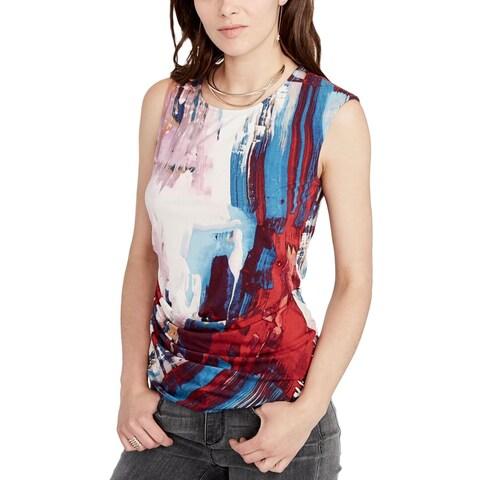 Rachel Rachel Roy Womens Casual Top Printed Sleeveless
