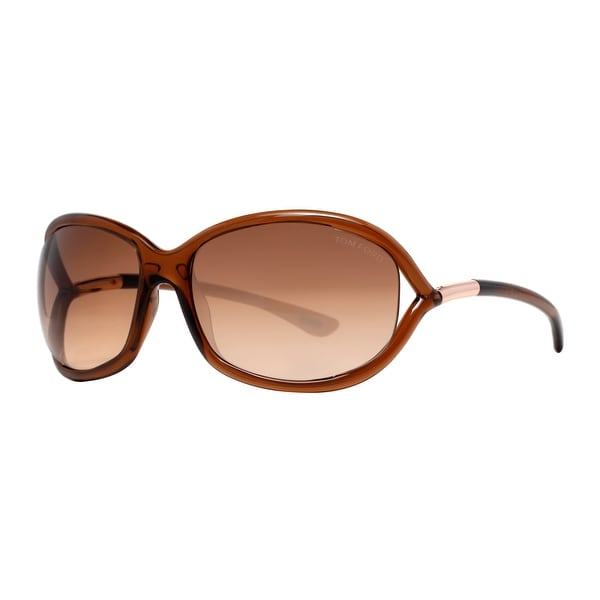 Tom Ford Jennifer TF 8 692 Honey Brown Gradient Women's Soft Squared Sunglasses - Honey Brown - 61mm-16mm-120mm