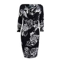 Lauren by Ralph Lauren Women's Floral Jersey Dress - Black