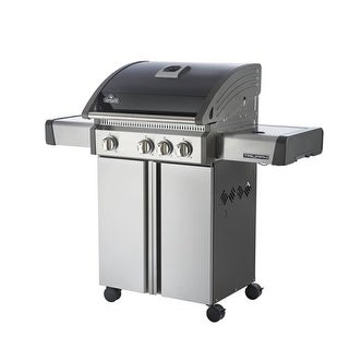 Napoleon T410SBN 44,700 BTU 50 Inch Natural Gas Stainless Steel Free Standing Grill with Side Range
