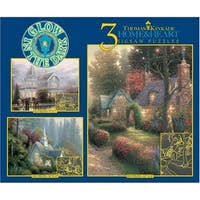 Thomas Kinkade 3 in 1 Glow in the Dark Jigsaw Puzzle Home and Heart