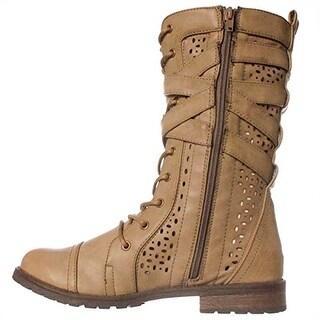Madison Raisha Combat Boots - Taupe