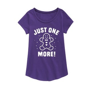 Just One More - Youth Girl Short Sleeve Curved Hem Tee