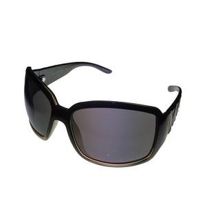 Esprit Womens Sunglass 19311 538 Black Fade Square Fashion Plastic, Smoke Lens - Medium