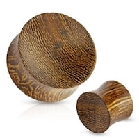 Concave Saddle Fit Snake Wood Organic Plug (Sold Individually)