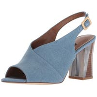 Nine West Women's Morenzo Denim Heeled Sandal - 9.5