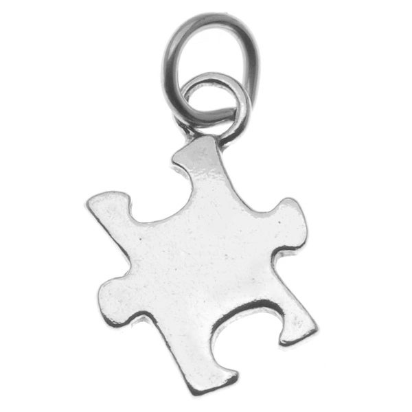 Sterling Silver Autism Awareness Puzzle Piece Charm Pendant (1)