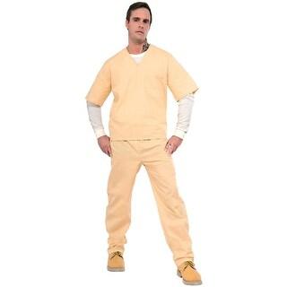 Orange is Black - Beige Prisoner Suit Costume Adult Standard