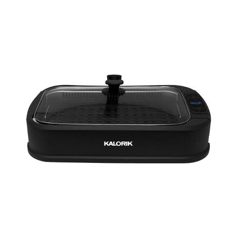KALORIK Indoor Smokeless Grill, Black Refurbished