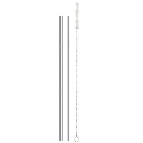 Harold Import 22021 Reusable Tumbler Drinking Straws, Stainless Steel