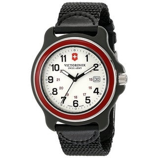 Link to Victorinox Swiss Army Original XL 249085 Men's Red Bezel Black Nylon Strap Watch - 1 Size Similar Items in Men's Watches