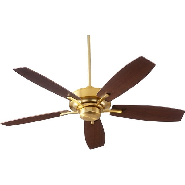 """Quorum International 64525 SOHO 52"""" 5 Blade Hanging Indoor Ceiling Fan with Reversible Motor, and Blades"""