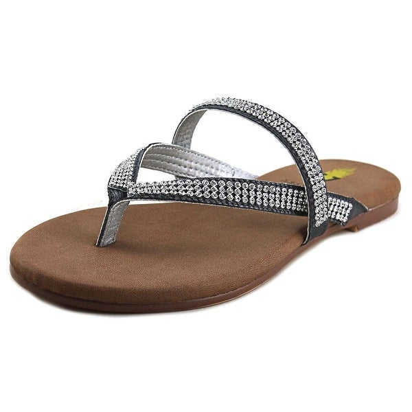 Volatile Gracee Women Open Toe Synthetic Silver Thong Sandal