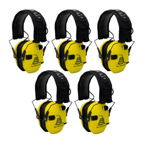 Walker's Razor Shooting Ear Protectors (Yellow, 5-Pack)