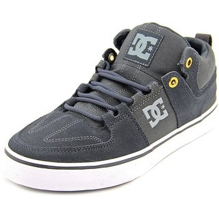 DC Shoes Lynx Vulc Mid Men Round Toe Suede Gray Skate Shoe