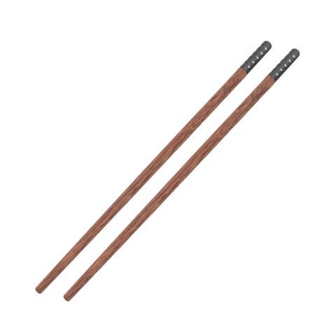 Wood Food Chopsticks Black Pair