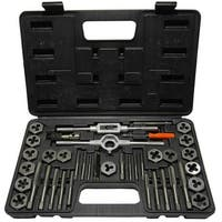 1 Pc, Qualtech 3.00mm - 12.00mm Carbon Steel Tap and Die Set with Hex Die, DWT40PC-MM-HEX