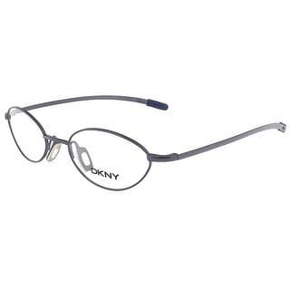 DKNY 6233 424 Shiny Blue/Matte Blue Oval Eyewear - shiny blue/matte blue - 49-18-135