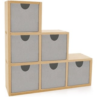 """Beyond The Page MDF Bookend Drawers-9.5""""X9.5""""X2.75"""""""