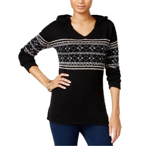 Sanctuary Clothing Womens Baja Fair Isle Hoodie Sweatshirt