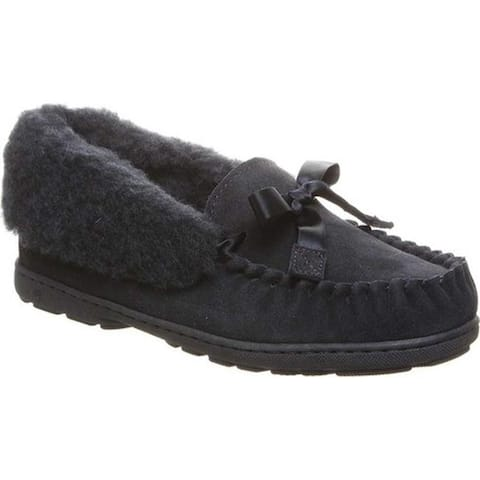 Bearpaw Women's Indio Moccasin Slipper Navy Suede
