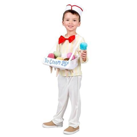 Ice Cream Cone Salesman Toddler Costume X-Small/Small - White