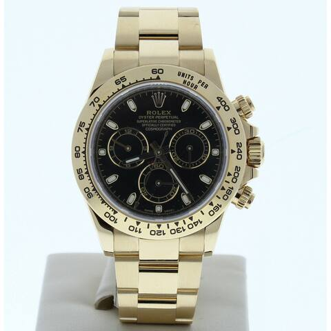 Preowned 116508 Rolex Daytona Black Index Dial Yellow Gold - Black Index Dial