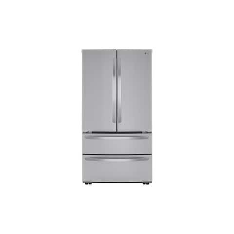 LG 27 cu.ft. 4 Door French Door, Double Freezer, Internal Water, PrintProof Stainless Steel