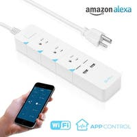 Wi-Fi Accessible Power Strip, 3 AC Outlets + 2 USB Charging Ports