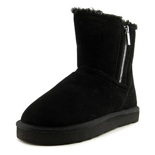 Style & Co Ciley Women Round Toe Suede Black Winter Boot