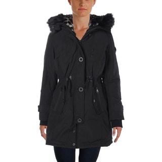 Nanette Lepore Womens Faux Fur Outerwear Parka