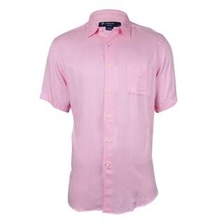 Cremieux Men's Solid Pique Buttoned Shirt (4 options available)