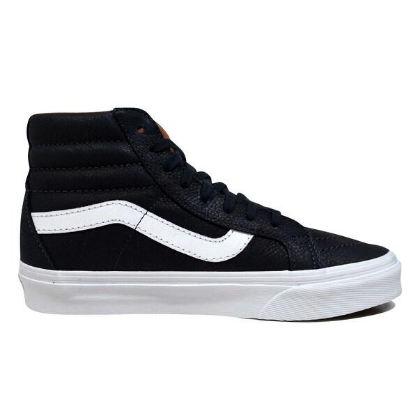 Shop Vans Sk8 Hi Reissue Premium Leather NavyWhite