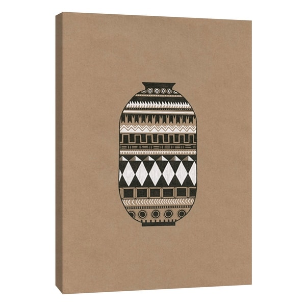"""PTM Images 9-105540 PTM Canvas Collection 10"""" x 8"""" - """"Tribal Vase 2"""" Giclee Native American Art Print on Canvas"""