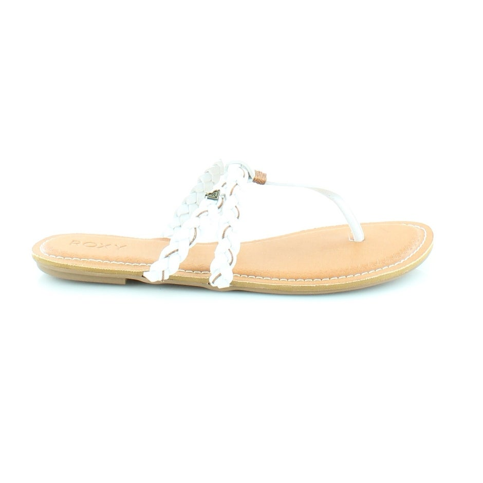 4b75e1d01811 Shop Roxy Giza Women s Sandals   Flip Flops White - Free Shipping On Orders  Over  45 - Overstock.com - 20527058