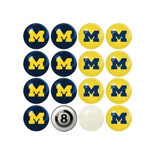 NCAA Michigan Billiard Balls Complete Set of 16 Balls - White