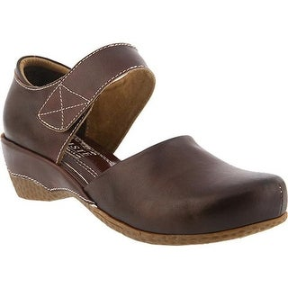 L'Artiste by Spring Step Women's Gloss Mary Jane Chocolate Brown Leather