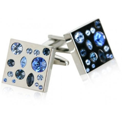 Too Blue Crystal Cufflinks