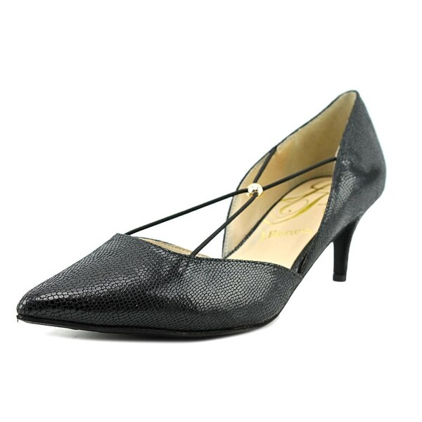 J. Renee Veeva Women W Pointed Toe Leather Black Heels