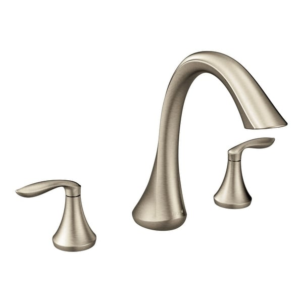 Shop Moen T943 Deck Mounted Roman Tub Faucet From The Eva Collection