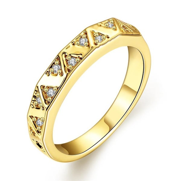 Gold Petite Horizontal Lined Ring